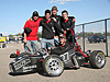 A team of students with a small race car