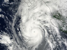 Hurricane Jimena as she was approaching Baja California on August 31, 2009 1:55 p.m. EDT.