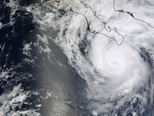 Hurricane Jimena when her center was southeast of the southern tip of Baja California.