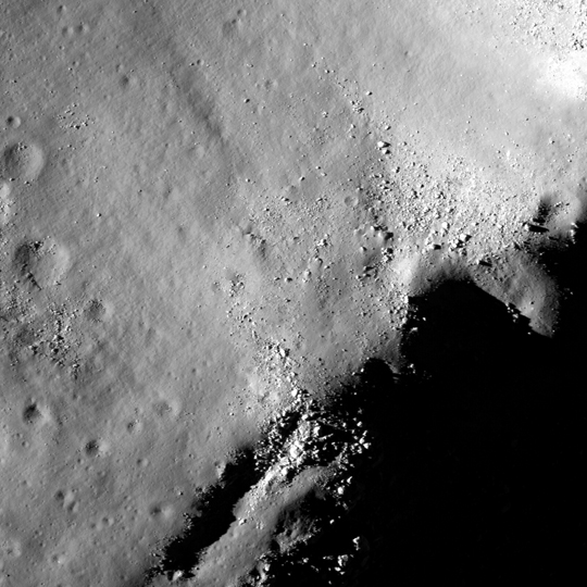 LROC image of a portion of Tsiolkovskiy Crater