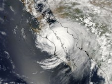 Hurricane Jimena on September 2 at 4:55 p.m. EDT when her center was directly over the southern tip of Baja California.