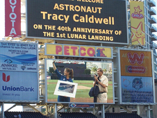 NASA Astronaut Tracy Caldwell is welcomed