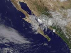 Jimena's clouds over the Gulf of California and western Mexico on September 4 at 10:45 a.m. EDT.
