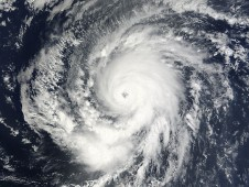 NASA's MODIS instrument on the Terra satellite captured Hurricane Fred in the central Atlantic Ocean.