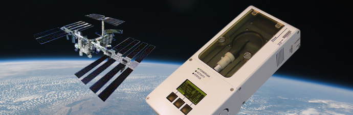 The ENose flew for six months on the International Space Station monitoring the air the astronauts breathed