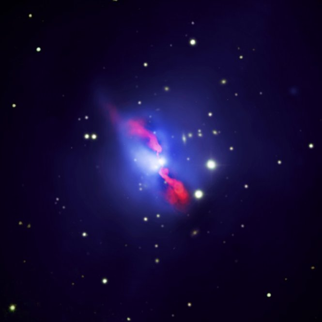 Composite image of the Hydra A galaxy