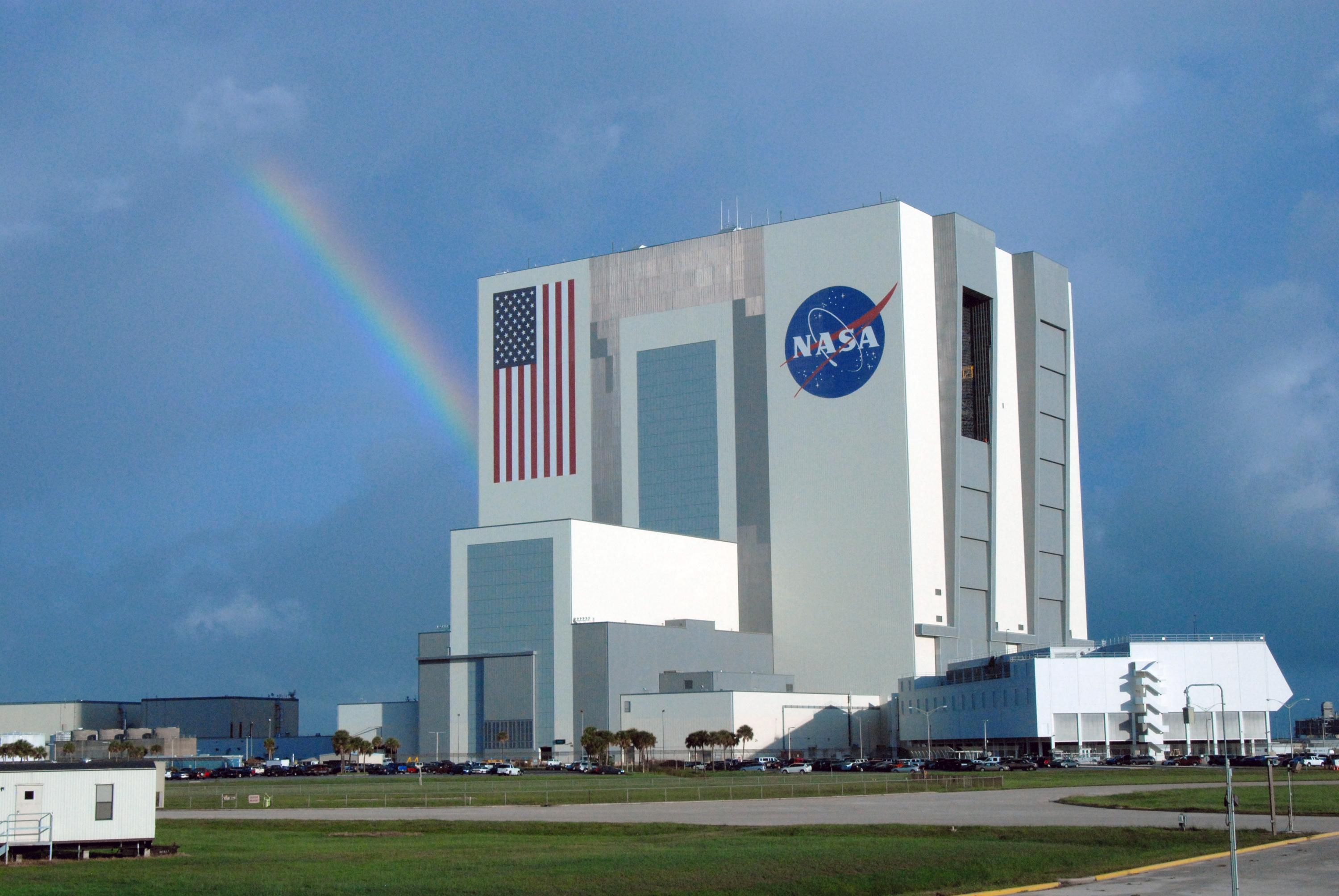 Nasa rainbow over kennedy for Space and co