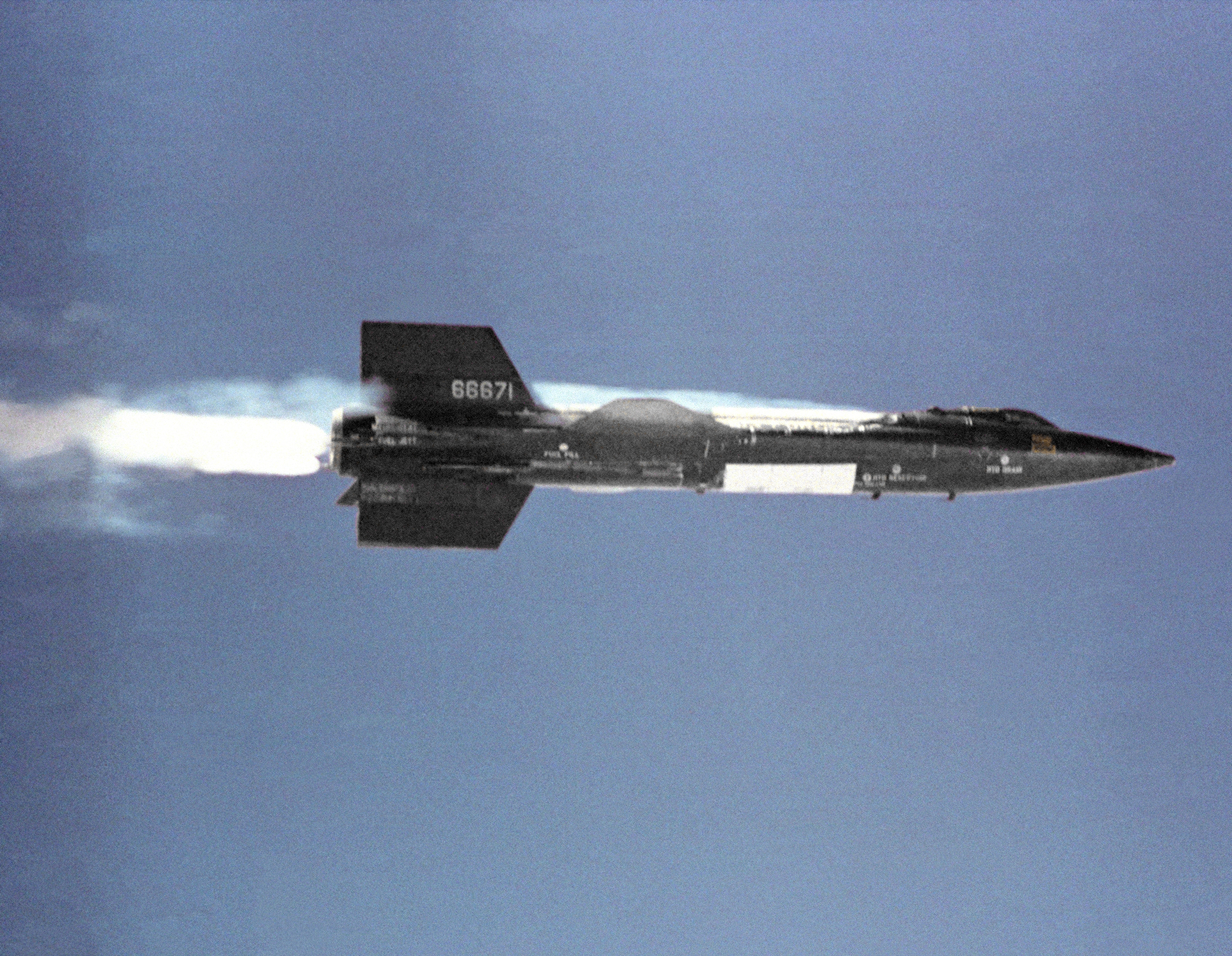 The X-15 research aircraft on its first powered flight on September 17 ...