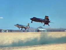 X-15 landing on the runway.