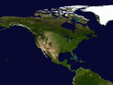 visualization of North America
