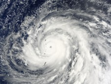 NASA's Terra satellite captured an image of Super Typhoon Choi-Wan on September 14 at 8:45 p.m. EDT.