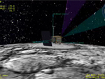 concept image of LRO entering mission orbit