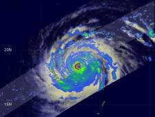 TRMM captured Category 5 Super Typhoon Chan-Woi on September 16 with sustained winds estimated at 140 knots (~161 mph).