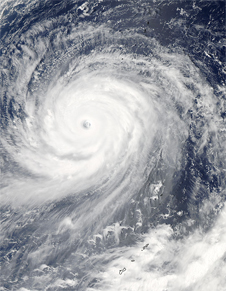 MODIS image of Super Typhoon Choi-Wan on September 17