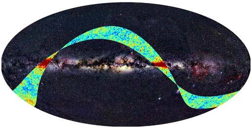 Planck's First Glimpse at the Universe