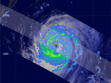 Image from TRMM showing Super Typhoon Choi-Wan's heavy rainfall on September 17