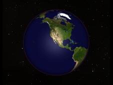 landmasses facing Moon at impact time