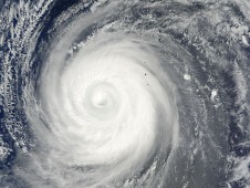 Choi-Wan's eye is now obscured by cirrus clouds, indicating that the typhoon's strength is waning.