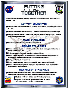 Page from Buzz Lightyear Putting It All Together Activity
