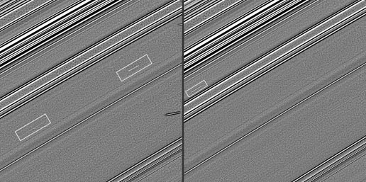 Cassini images of streaks that are likely evidence of impacts into Saturn's rings