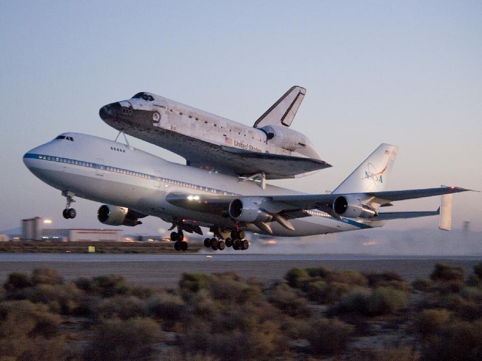 NASA - Ferry Flight Takes Off