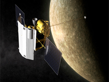 MESSENGER in orbit around Mercury
