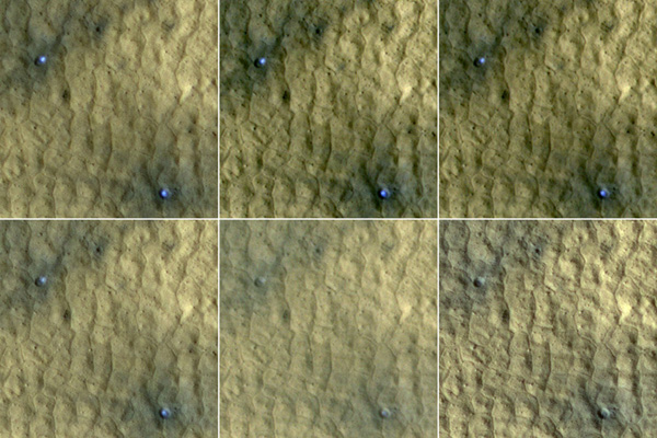 Ice in Pair of Fresh Craters on Mars Fades with Time