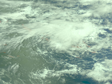 AIRS image of Tropical Depression 18W on September 28, 2009