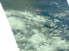 Image of Tropical Depression 20W (left) shortly after it was