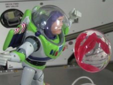 Buzz Lightyear aboard the International Space Station