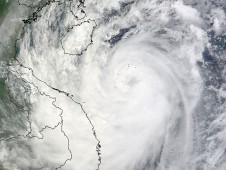 Typhoon Ketsana on September 28 at 10:30 a.m. local time as it was approaching Vietnam.