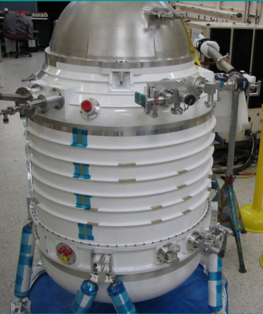 Initial assembly of the WISE cryostat.