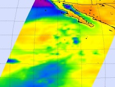NASA's Aqua satellite data was used to create this microwave image of TD18E on October 1 at 5:23 a.m. EDT (9:23 UTC).