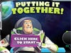 Screenshot of the Putting It Together game featuring Buzz Lightyear