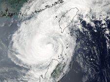 MODIS image of Tropical Storm Parma in the Luzon Strait