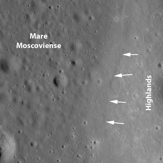 LROC image of Mare Moscoviense