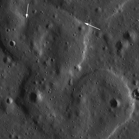 LRO image of a rille northeast of Ulugh Beigh Crater