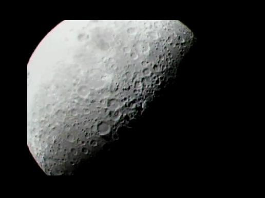 View of the moon from the LCROSS spacecraft.