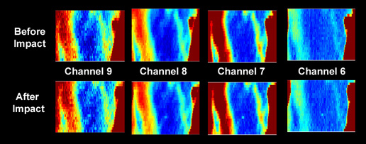 Uncalibrated Diviner thermal maps of the LCROSS impact region acquired before and after the LCROSS Centaur impact