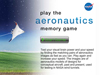 Aeronautics Memory Game Screen.