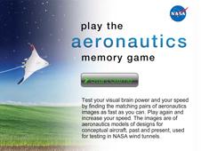 Aeronautics Memory Game Screen.