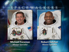 EVA 1 spacewalkers