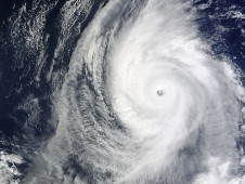 NASA's MODIS instrument on the Terra satellite captured Super Typhoon Lupit on October 19