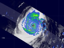 Lupit was a category 4 super typhoon with wind speeds of about 132 knots (~152 mph).