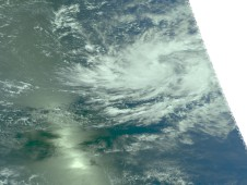 NASA's Aqua satellite captured this visible image of Tropical Storm Neki on October 19