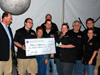 image of Paul's Robotics team receiving check
