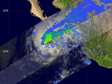 TRMM satellite image of Rick from October 20 at 2233 UTC