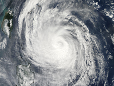 MODIS image of Typhoon Lupit on Oct. 21 at 1:05 a.m. EDT