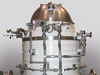 Some say the science instrument on NASA's Wide-field Infrared Survey Explorer, or WISE, mission resembles the Star Wars robot R2-D2. The instrument is enclosed in a solid-hydrogen cryostat, which cools the WISE telescope and detectors.