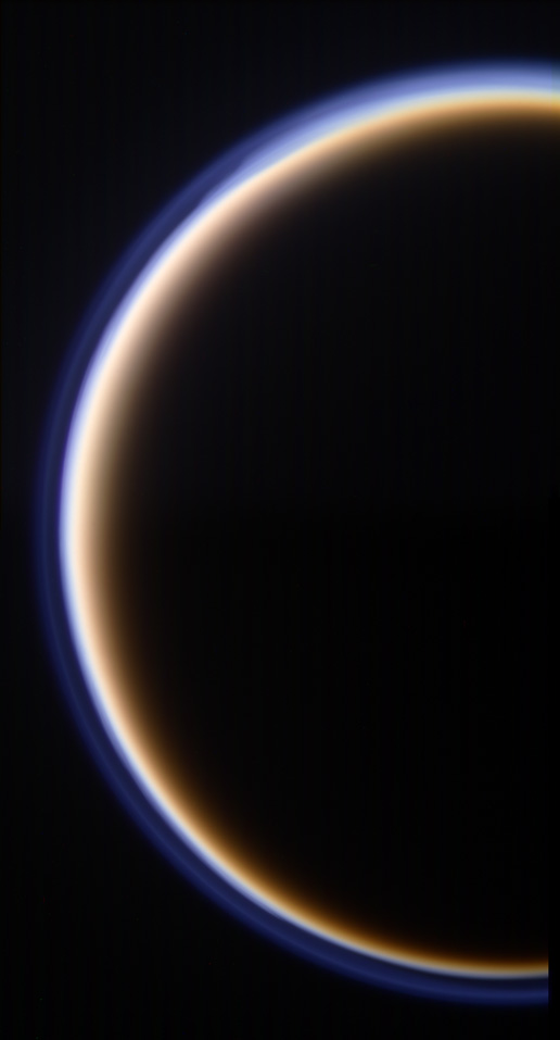 Target 3 of Cassini Scientist for a Day shows a portion of Titan and its atmosphere.